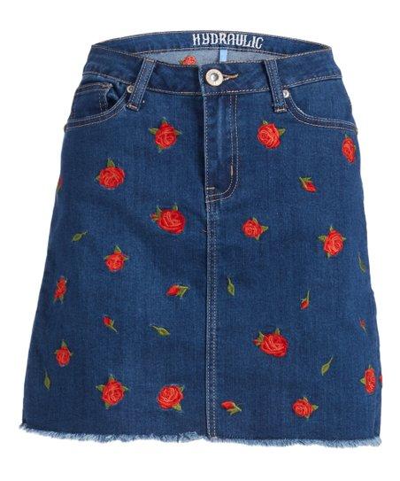 5a76d422b Hydraulic Blue Rose London Denim Skirt - Women   Zulily