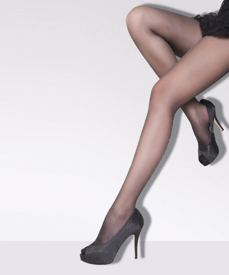 7cf0a27dd Daymod Black   Silver Sheer Sparkle Tights - Women