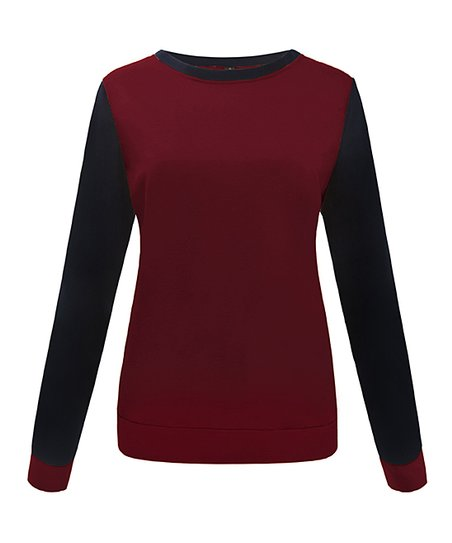 a64b04dd32 love this product Wine   Black Color Block Sweater - Juniors