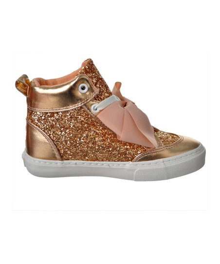 460d8f443a8e love this product Jojo Siwa Rose Gold Sequin-Accent Hi-Top Sneaker - Girls