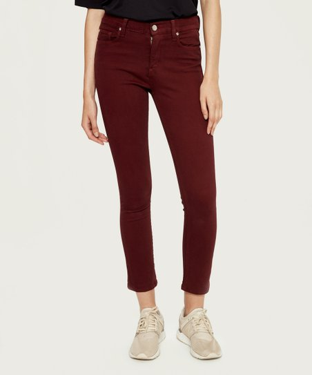wine coloured jeans womens