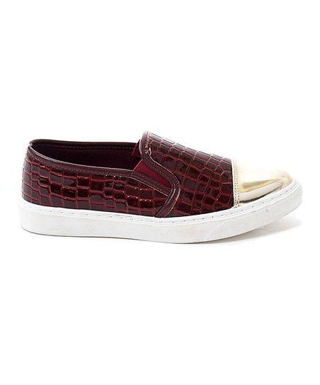 8fd4c93cd680d love this product Burgundy Croc-Embossed Jay Slip-On Sneaker - Women
