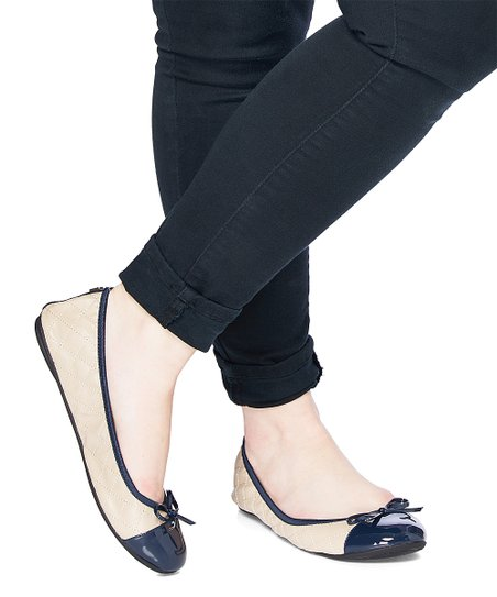 c8964bd5d84 Butterfly Twists Nude   Navy Olivia Ballet Flat - Women