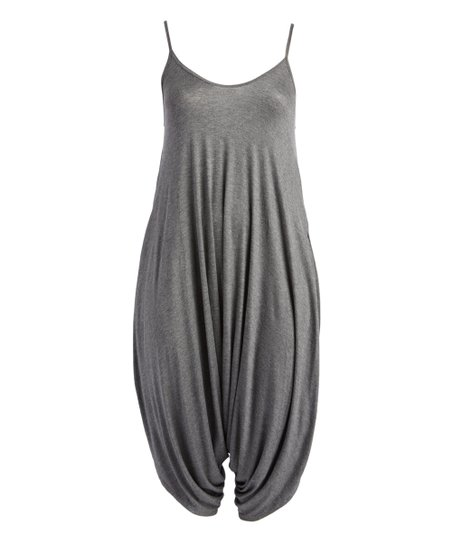 2c771c27a4b love this product Charcoal Gray Harem Jumpsuit - Women   Plus