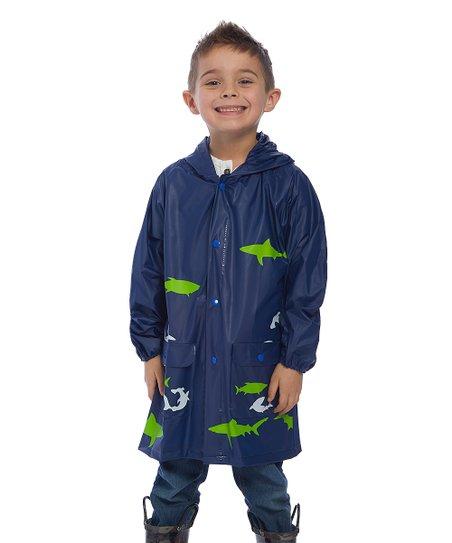 e0c9d73aa LILLY of NEW YORK Navy & Green Shark Rain Jacket - Infant   Zulily