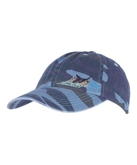 0d9405d508d Guy Harvey Blue Marlin Head Camo Baseball Cap - Men