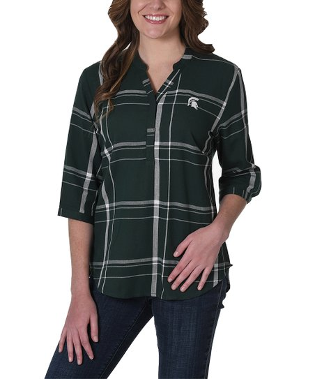 Marvelous University Girls Apparel Michigan State Spartans Plaid Tunic Andrewgaddart Wooden Chair Designs For Living Room Andrewgaddartcom
