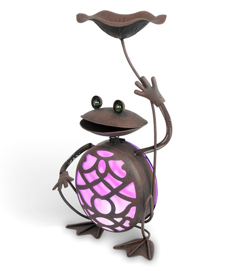 Love This Product Purple Frog Solar Outdoor Statue