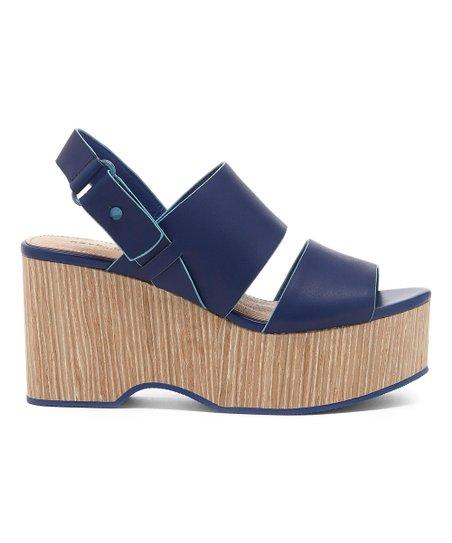 12458c71ddb Kelsi Dagger Brooklyn Blueberry Nash Platform Leather Sandal - Women ...