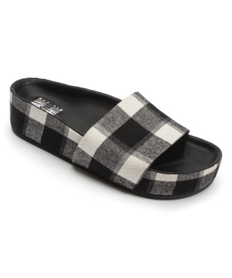 black and white buffalo plaid shoes