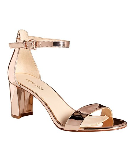 874e78b2c51 love this product Metallic Rose Gold Ankle-Strap Pruce 3 Sandal - Women