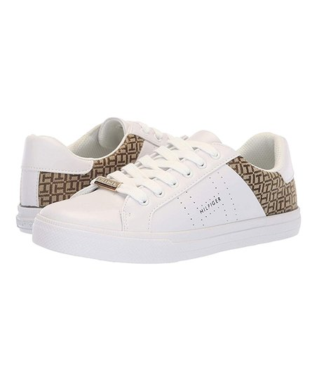 Tommy Hilfiger White Lorio Leather