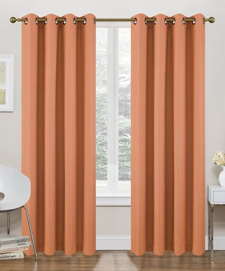 Love This Product Orange Thermal Blackout Curtain Panel Set Of Two