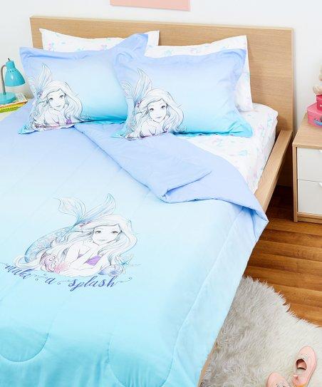 Jay Franco and Sons Disney Little Mermaid \'Make a Splash\' Seven-Piece  Comforter Set