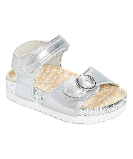 61992859da29 love this product Silver 'Bebe' Glitter Double-Strap Sandal - Girls