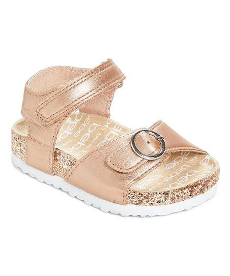 4aa433e38bbc love this product Rose Gold  Bebe  Glitter Double-Strap Sandal - Girls