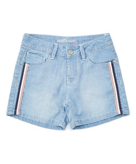 a7d52a2159 WallFlower Light Wash Denim Shorts - Girls | Zulily