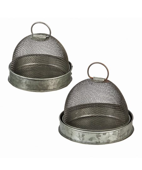 Nesting Metal Cage Storage Container Set Zulily