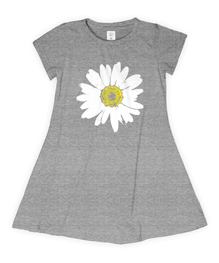 f6a60a56 love this product Heather Gray Daisy T-Shirt Dress - Toddler & Girls
