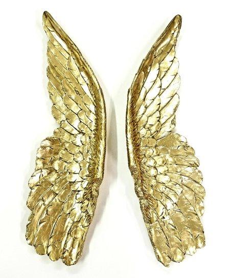 Near Deer Gold Angel Wings Wall Décor