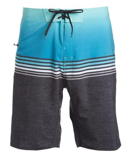 Burnside Black & Blue Boardshorts - Men & Big