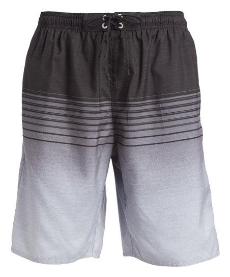 03ec209b26 love this product Gray & White Stripe Boardshorts - Men