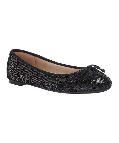 Black Sequin Charlotte Ballet Flat