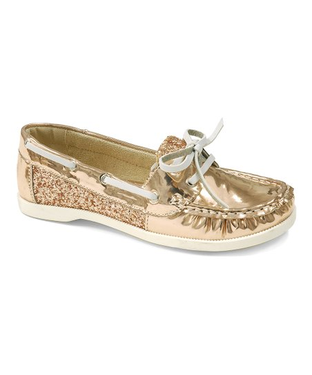 3580ab30f8ab love this product Rose Gold Patent Boat Shoe - Women