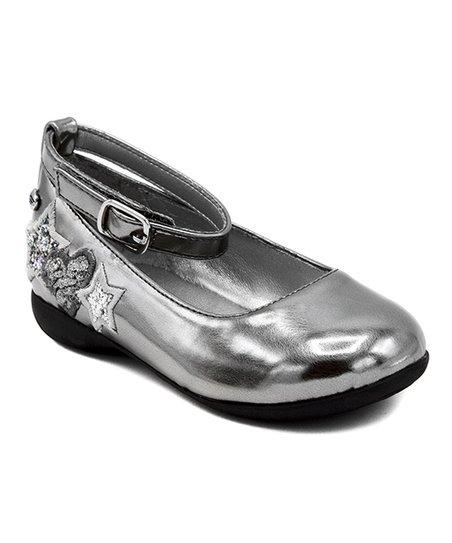 Naturino Express Pewter Star Esta Ankle-Strap Flat - Girls  8367467d95f