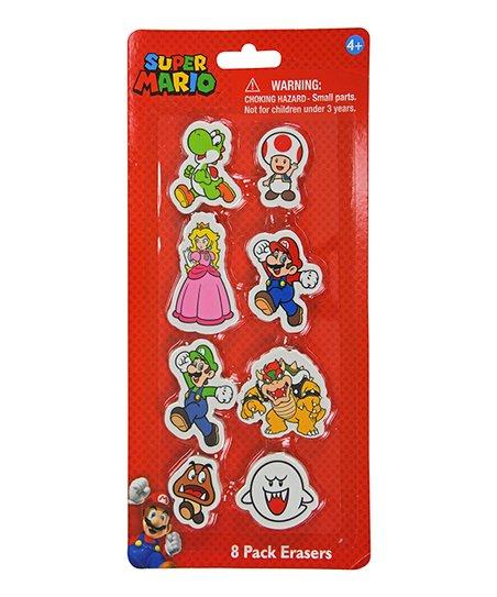 UPD Super Mario Eight-Piece Shaped Eraser Set