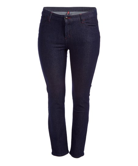 cd492c476e1 Be Girl Clothing Dark Indigo Embellished Skinny Jeans - Women   Plus ...