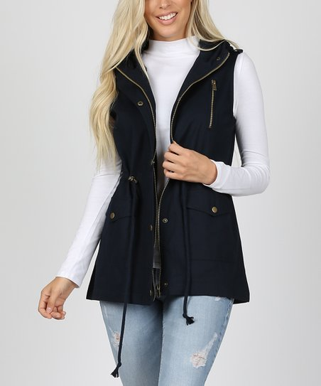 0a01b71b03d love this product Navy Hooded Cargo Vest - Women   Plus