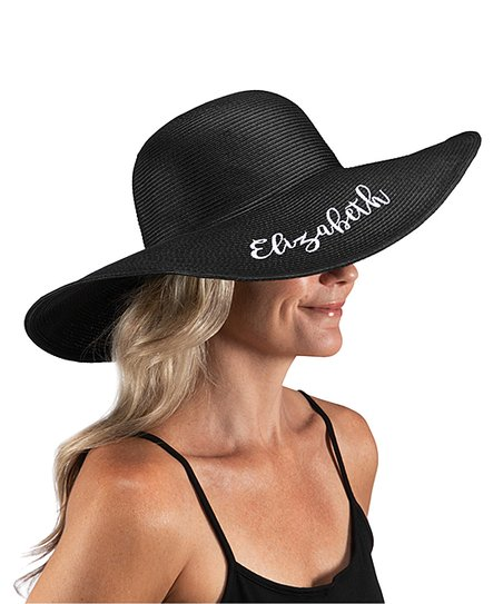 0ce375e7 Personalized Planet Black Personalized Floppy Sunhat   Zulily
