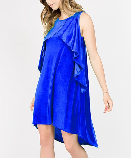 Royal Blue Ruffle Dress