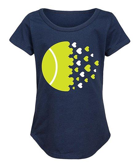 Love Tennis Ball Baby Girls Round Collar Shirt Help Shirt