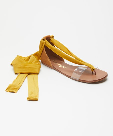 fe6e3bbbd love this product Yellow Barcelona Wrap Sandal - Women