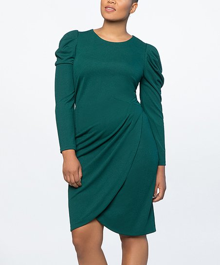 4a04e9b603c ELOQUII Botanical Green Shift Dress - Plus