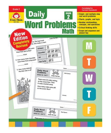 Evan-Moor Educational Publishers Daily Word Problems Math Grade 2 Workbook
