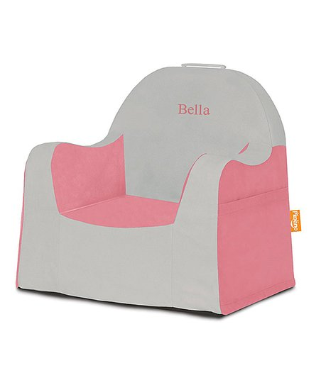 Gray Pink Little Reader Chair