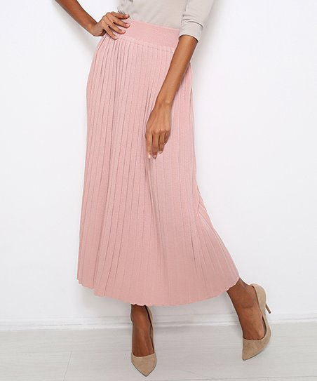 aa0339abf love this product Powder Pleated Wool-Blend Midi Skirt - Women
