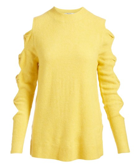 love this product Yellow Open-Sleeve Sweater - Women cbe0f5fdf