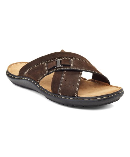 854c2c01db1 love this product Brown Leather Cross-Strap Sandal - Men
