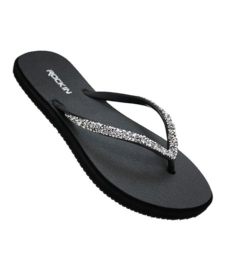 9e582ca02411 love this product Black   Silver Flip-Flop - Women