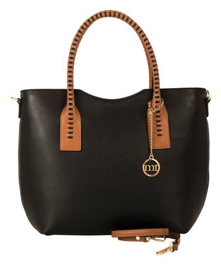a8216cfb9ea9 Mia Tomazzi Black   Brown Leather Tote