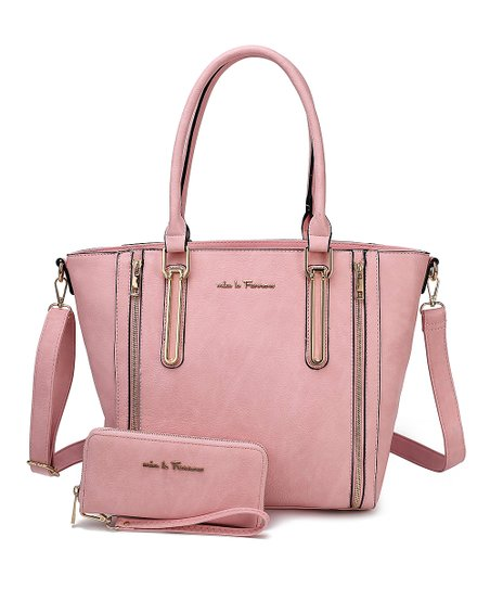 MKF Collection by Mia K  Farrow Rose Zip-Accent Ilya Tote & Wallet Set