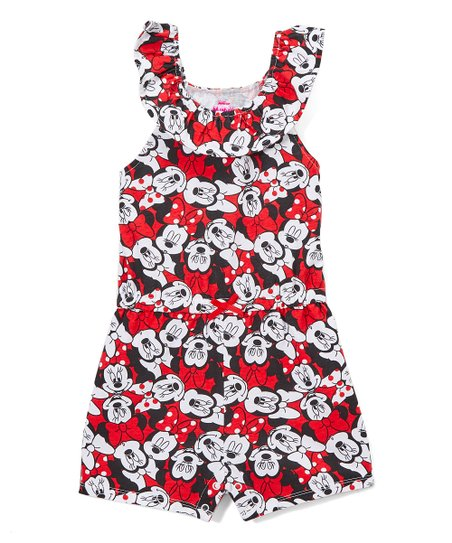 844e2a8ecbcd love this product Minnie Mouse Red   Black Bow-Accent Romper - Toddler