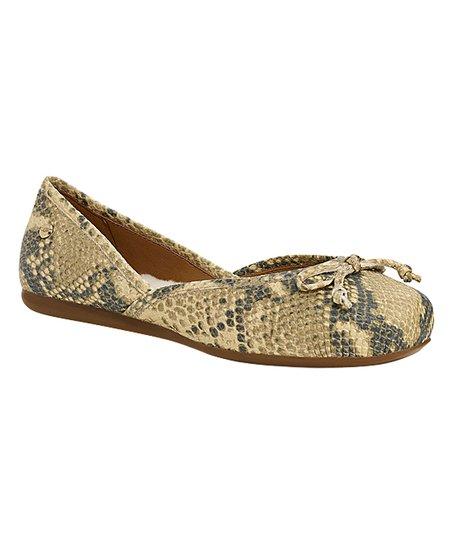 d0474e1e6998 love this product Natural Snakeskin Print Lena Leather Ballet Flat - Women
