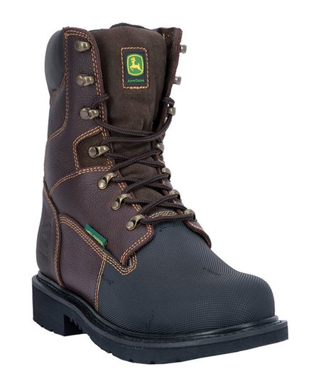 Chocolate Leather Work Boot - Men