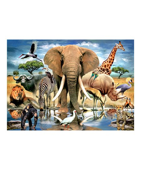 Wood Expressions African Oasis 234 Piece Puzzle Zulily