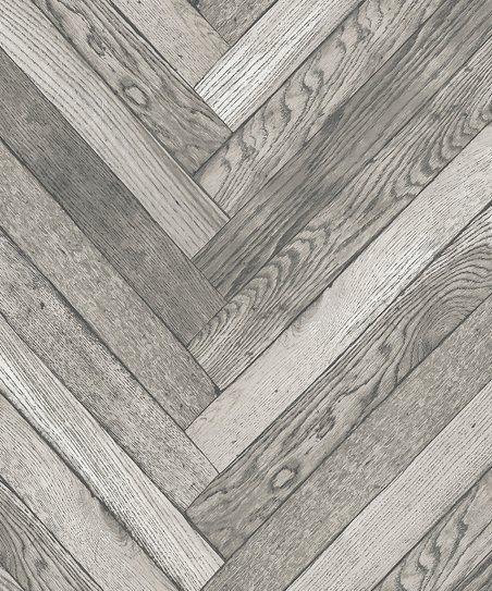 . Brewster Home Fashions Altadena Gray Diagonal Wood Wallpaper